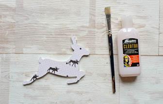 petite biche percé à décorer pour noël, papier renne