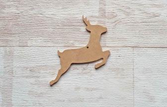 petite biche percé en bois à customiser noël