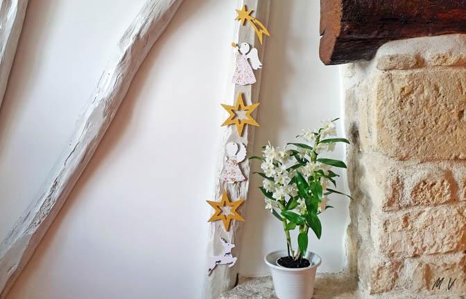 formes en bois à décorer, poutre noël, ange, étoile, renne