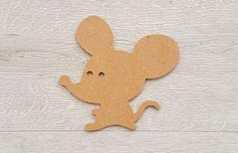 souris enfantin en bois à décorer