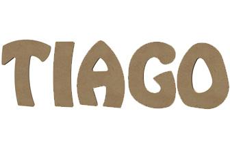 lettres majuscules en bois à décorer tiago prénom garçon