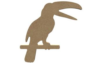 support bois : toucan à décorer