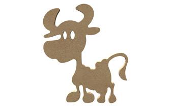 petite vache en bois à customiser diy