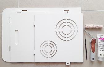 cuisinière en bois pour enfant à décorer peinture blanc