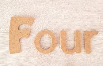 lettres en bois majuscule minuscules à customiser