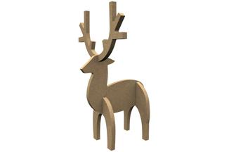 cerf en bois 3d à décorer pour un noël créatifs diy