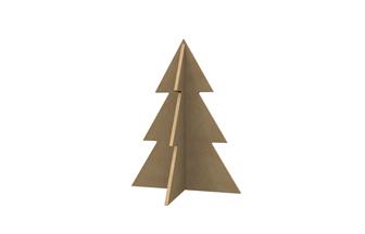 petit sapin en bois 3D à décorer pour un Noël créatif