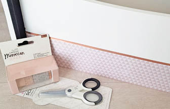 boite poignée bois à customiser, masking tape cuivre do it yourself